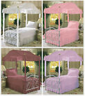 FC35 NEW CANOPY BED FRAME DECORATIVE ACCENT POLE SLEEVES WRAPS COVERS FABRIC