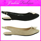 NEW LADIES FASHION FLAT SLINGBACK CASUAL WORK OFFICE SANDALS SHOES SIZES 3-8