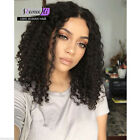 Malaysian Deep Curly 100% Human Remy Hair Front/ Full lace Wigs Baby Hair
