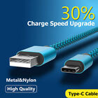 1M-3M Braided Heavy Duty USB C 3.1 Type-C Data Snyc Charger Charging Cable Hot