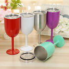 Wine Glass Colored Double Wall Insulated Stainless Steel Metal Goblet Wine Mug