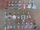 Belly Bar Navel Button Ring Body Jewellery Dangle Crystal Gem Owl Horse Dog Cow