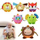 Baby Kids Children Soft Cute Stuffed 3D Animal Plush Toys Crib Bed Doll Pacifier