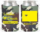 Army Camouflage Wedding Koozies Koozie Favors Gift Ideas Decorations Gifts (105)