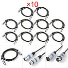 1 10 PCS 3 Pin 3.3ft DMX Stage DJ Lighting Cable Male to Female XLR Connector
