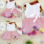 Kid Easter Toddler Girl Beautiful Flower Girls Party Dresses SIZE 0-6-12-18-24MO