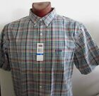 NWT Chaps Easy Care Short Sleeve Casual Shirt Multicolor Plaid Size M