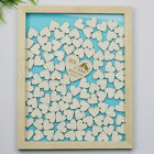120Pcs Hearts Personalized Engraved Drop Top Wooden Wedding Guest Book Frame