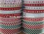 Ribbon ~ Christmas, Snowflakes, Candy Stripe, Gingerbread Man, Stars, Santa