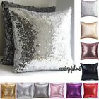 Mermaid Glitter Sequins Pillow Cover Cases Home Car Sofa Cushion Covers Decor