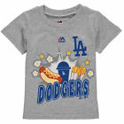 Majestic Los Angeles Dodgers Toddler Gray Snack Attack T-Shirt - MLB