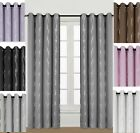 Ripple Dimout Thermal Eyelet Ring Top Curtains Semi Blackout