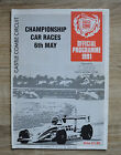 Castle Combe Circuit Official Programme Championship Car Races 6th May 1991