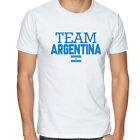 Argentina Team Soccer T-shirt Adults Men's Soccer Jersey 100 % cotton Any Sports image