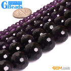 "Natural Stone AAA Grade Dark Purple Amethyst Round Beads Free Shipping 15""Strand"