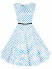 Damen+Kleid+Rockabilly+Petticoat+Sommerkleid+Retro+50er+Jahre+Vintage+Party+N361