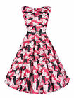 N361 Damen Kleid Rockabilly Petticoat Sommerkleid Retro 50er Jahre Vintage Party