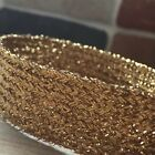 "GOLD FLAT LUREX BRAID 15-19MM WIDE (approx 3/4"") - GLITZY SPARKLY BRAID"