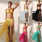 Sheer Soft Mesh Bikini Swimwear Cover Up Long Maxi Skirt Tube Top Beachwear OS