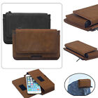 Zipper Leather Pouch Belt Waist Bag Wallet Pocket Case Cover For Most Cell Phone