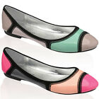 15S WOMENS DOLCIS PATENT LADIES FLAT BALLERINA BALLET DOLLY PUMPS SHOES SIZE 3-8