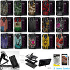 For ZTE Carry Z981 Dual Layer Armor KickStand Skin Cover Case + Film +Pen