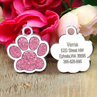 Personalised Pet Dog Tags Cat Puppy Custom Engraved ID Name Collar Tags Bone/Paw