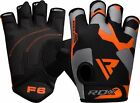 RDX Power Weight Lifting Training Gym Gloves Straps Wrist Support Lift Workout
