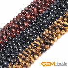 Natural AA Grade Genuine Tiger's Eye Gemstone Round Beads For Jewelry Making 15""