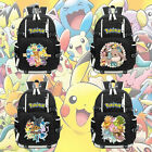 New Anime Pokémon Eevee Backpack Knapsack Black Packsack School Otaku Bags