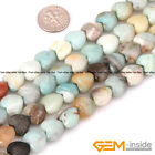 Natural 12mm Heart Love Amazonite Gemstone Beads For Jewelry Making Strand 15""