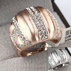 A1-R3002 Fashion Rhinestone Band Ring 18KGP CZ Crystal Size 5.5-9