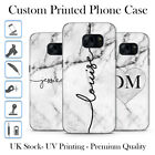Kyпить PERSONALISED GREY MARBLE BLACK INITIALS NAME CUSTOM GEL PHONE CASE FOR SAMSUNG S на еВаy.соm