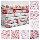 Alice Small Pretty Pink Floral Polycotton Fabric -  PER METRE delicate girls