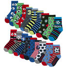 Childrens Kids Boys Cotton Rich Novelty Socks 9 or 18 Pair Bundle Back To School