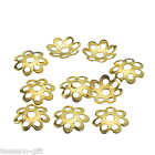 Wholesale Lots Gift  Gold Plated Beads Caps For Jewelry Findings 8mm