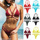Fashion Women Summer Backless Beachwear Swimwear Bikini Solid Bikini GIFT