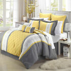 Livingston Yellow Comforter Bed In A Bag Set 8 piece