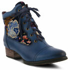 New In Box Womens L'Artiste SANDI Blue Leather Ankle Boots SANDI-BLU