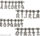 Wholesale  Rhinestone Alphabet Letter Dangle Pendant Charm Fit Bracelet Mixed