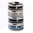 New CSGO CS GO Global Offensive Stainless Steel Band Ring Cosplay Jewelry Gift