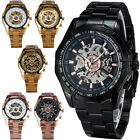 Color Choose- Mens Mechanical Watches Skeleton Automatic Winner Stainless Strap