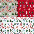 Baby Christmas Characters Santa Reindeer Owl Penguin Xmas Polycotton Fabric