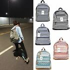 Casual Canvas School Backpack Bookbag Work Travel Satchel Rucksack Shoulder Bag