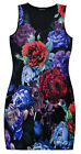 Ladies Floral Stretch Dress New Womens Plus Size Sleeveless Dresses UK 16-26