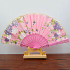 Spanish Style Dance Wedding Party Lace Silk Folding Hand Held Flower Fan FINE