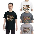 Ish Original Official Youth Summer Party Short Sleeve T-Shirt Cotton Tee