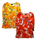 Ladies Summer Blouse New Womens Chiffon Plus Size Curve Printed Top UK 14 - 26