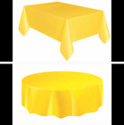 Rectangle & Round Plastic Disposable Table Cloth Covers Cover Party Christmas