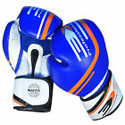 Boxing Gloves Leather MMA Training Muay Thai Fight Punch Bag Sparring 3X Sports